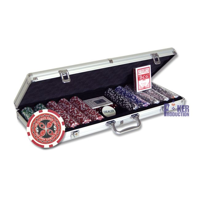 Poker Production - Mallette Upc Ultimate Poker Chips, : 500 jetons