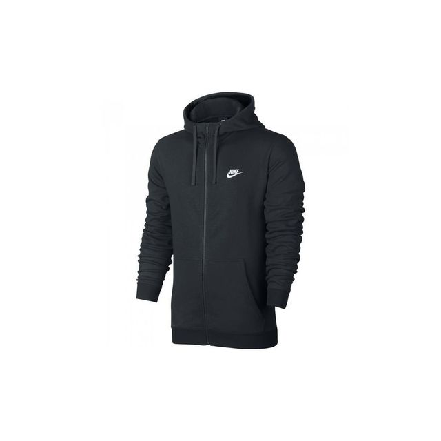 check out 8d13d ece22 Nike - Sweat Club Ft Full-Zip Hoodie - 804391-010 - pas cher Achat / Vente Sweat  homme - RueDuCommerce