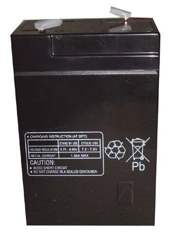 Electrolux 6,0v-4,5ah accu au plomb pb multipower 70x47x101mm