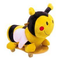 meinLiLaLu & Co. - Porteur peluche abeille - Planche à roulettes pour enfants - Skateboard pour petit