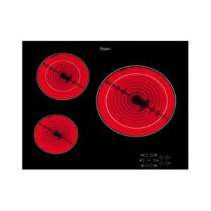 whirlpool table de cuisson vitroc ramique 3 feux 5700w noir akt8030ne achat plaque de. Black Bedroom Furniture Sets. Home Design Ideas
