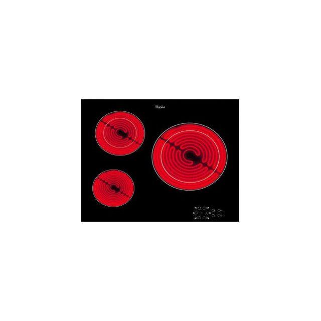 whirlpool table de cuisson vitroc ramique 3 feux 5700w. Black Bedroom Furniture Sets. Home Design Ideas