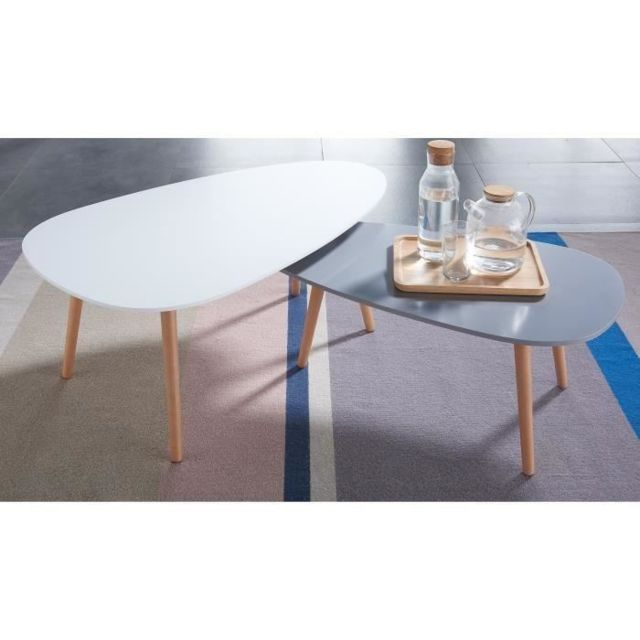 Generique Table Basse Kivi Lot De 2 Tables Basses Gigognes