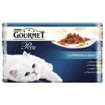 Gourmet - Sachets Perle Les Filettines en Sauce pour Chat - 4x85g