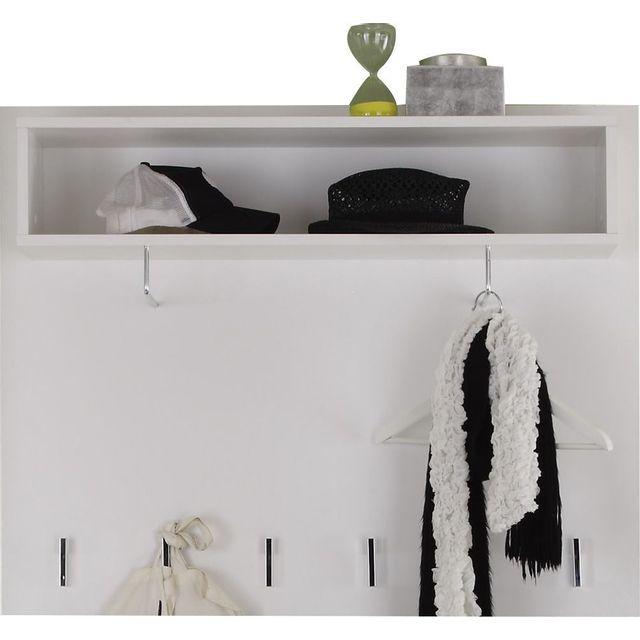 Comforium Porte-manteau mural coloris blanc