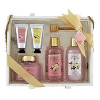 Coffret cadeau coffret de bain parfum fleurs de pivoine et de patchouli - 6pcs