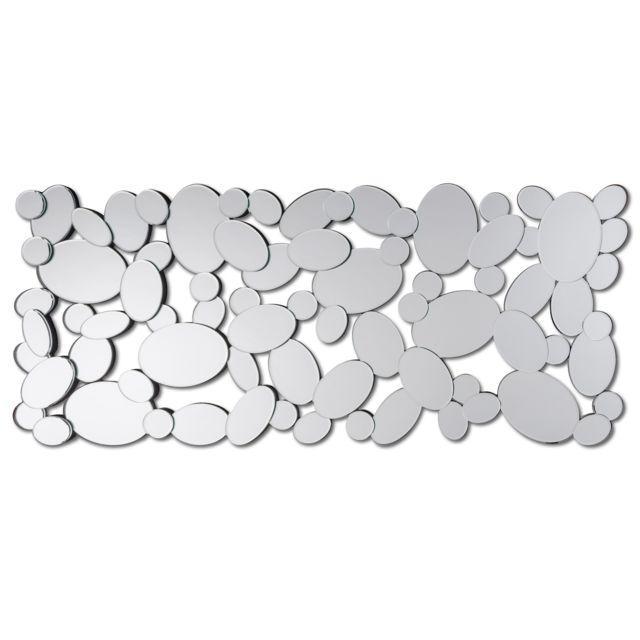 Dekoarte E006 - Miroir moderne mural décoratif design en cercles 140x60cm