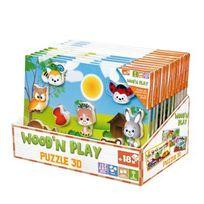 WOOD N PLAY - Puzzle bois 30 x 21 cm 3D