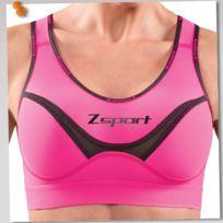 Zsport - Brassiere Soft Touch Rose Brassière de sport Femme