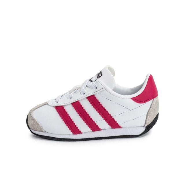 Adidas originals Country Og Bébé Blanche Et Rose 21 pas