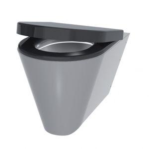 delabie cuvette suspendue en inox abattant noir s21s pas cher achat vente wc. Black Bedroom Furniture Sets. Home Design Ideas
