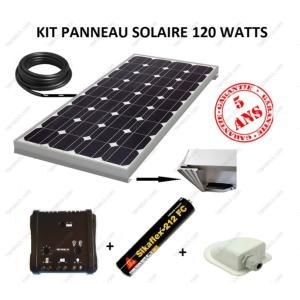 antarion kit panneau solaire 120w monocristallin pour. Black Bedroom Furniture Sets. Home Design Ideas