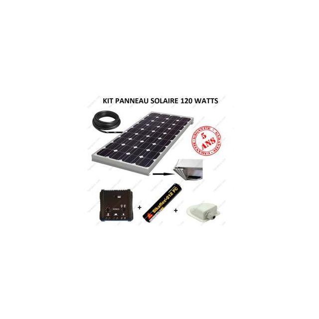 antarion kit panneau solaire 120w monocristallin pour camping car pas cher achat vente. Black Bedroom Furniture Sets. Home Design Ideas