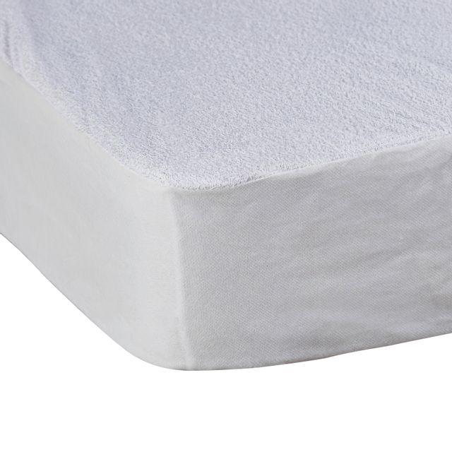 tex home al se microfibre imperm able blanc pas cher achat vente draps housses rueducommerce. Black Bedroom Furniture Sets. Home Design Ideas