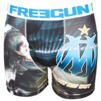 Freegun - Sous vêtement boxer Om3d blanc/blue boxer Bleu 23734