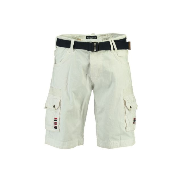 Norway Homme Blanc Achat Panoplie Geographical Bermuda Pas Cher ulFKJcT135