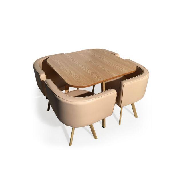 Table Scandinave Beige Corner Style RepasChaises Encastrable exrBdCo
