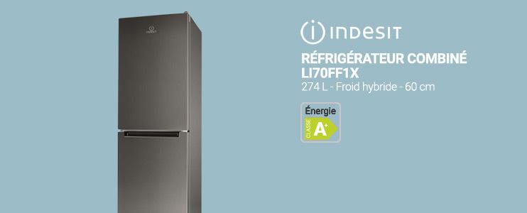 Indesit - Réfrigérateur combiné LI700FF1X