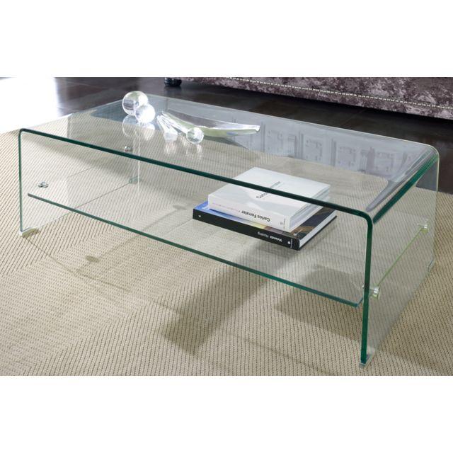 Sofamobili Table basse en verre trempé Clarity