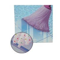 Mery - Frange en microfibre + adaptateur - lilas