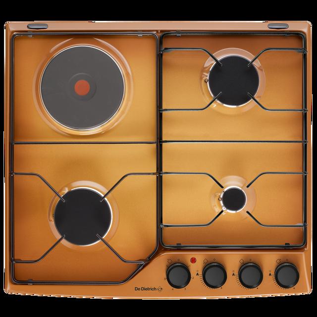 de dietrich table de cuisson mixte 60cm 4 feux sable dor. Black Bedroom Furniture Sets. Home Design Ideas