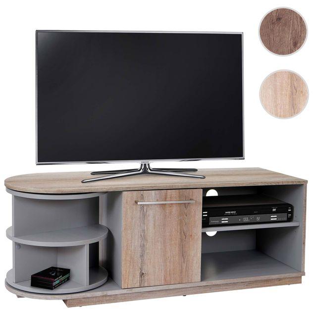 mendler meuble bas tv arau rack tv table de t l vision. Black Bedroom Furniture Sets. Home Design Ideas