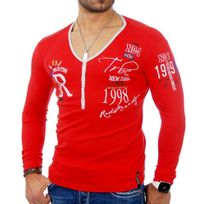 Redbridge - Tee shirt fashion homme T-shirt 1643 rouge
