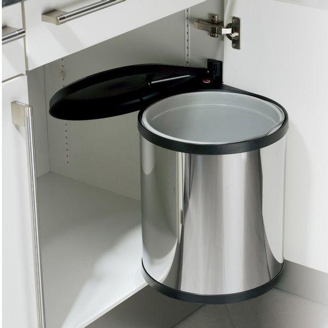 Hailo Poubelle encastrable Compact-box 15L - Inox