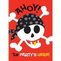 Marque Generique - Invitations anniversaire pirates x8
