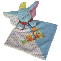 Nicotoy - Peluche Disney Doudou Plat Blanc et Bleu De Dumbo L Elephant - Peluche Licence - Disney
