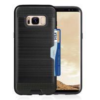 Wewoo - Coque renforcée Pour Samsung Galaxy S8 + / G9550 avec titulaire de la carte de crédit Tpu + Pc couvre-téléphone portable Noir