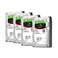 SEAGATE - Lot de 4 disques durs interne ironwolf 8 to 3.5 '' 7200 rpm 256 mo serial ata 6 gb/s pour na