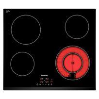 SIEMENS - table de cuisson vitrocéramique 60cm 4 feux 6600w noir - et651bf17e