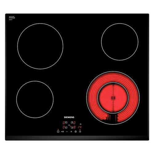 siemens table de cuisson vitroc ramique 60cm 4 feux 6600w noir et651bf17e achat plaque de. Black Bedroom Furniture Sets. Home Design Ideas