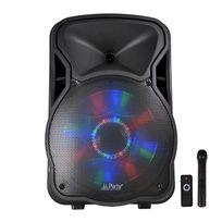 Party Sound - Enceinte mobile amplifiée 700W 12'' à Leds Rvb Usb/BT/SD/FM Party12