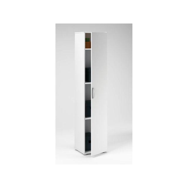 HABITAT ET JARDIN - Armoire Cobi - 35 x 34 x 175 cm - Blanc