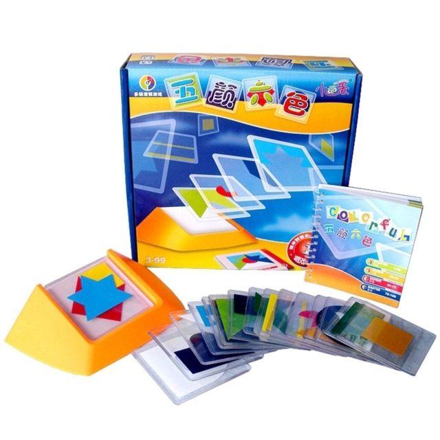 Wewoo Jeu construction Diy Assiette colorée de réflexion spatiale Puzzle jouet Enfants Pensée logique correspondance des coule