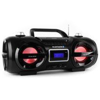 MAJESTIC - AH 234BT/MP3/USB Boombox bluetooth CD MP3 USB LED 7 couleurs