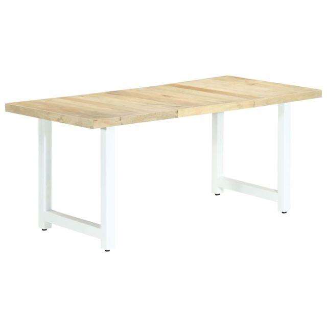 Esthetique Tables edition Khartoum Table de salle à manger 180x90x76 cm Bois de manguier massif