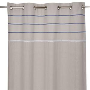 alin a seychelles rideau oeillets 140x250cm gris clair pas cher achat vente rideaux. Black Bedroom Furniture Sets. Home Design Ideas