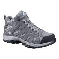 b2e1f6319b0 Columbia - Chaussures de marche Canyon Point Mid Waterproof gris bleu clair  femme