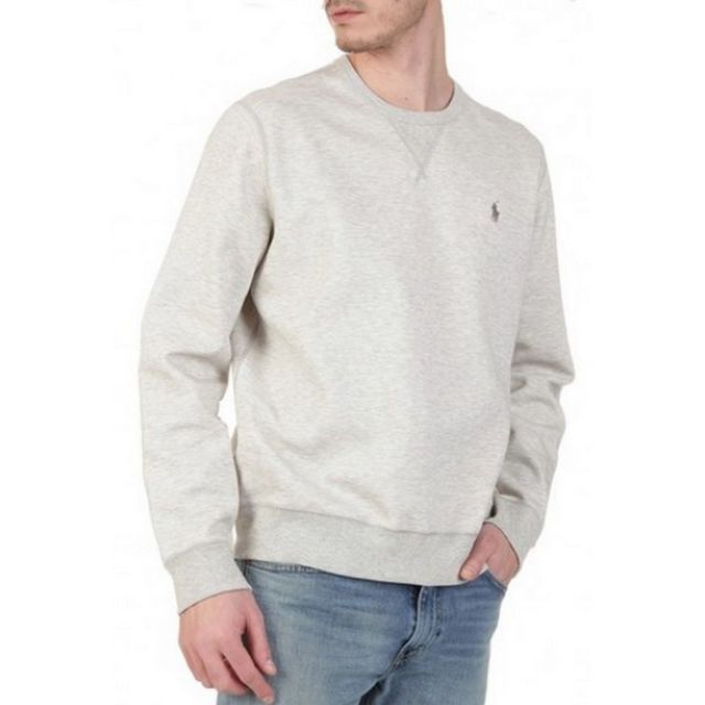 Ralph Lauren - Pull col rondGris chine - pas cher Achat   Vente Pull homme  - RueDuCommerce a89456af1451