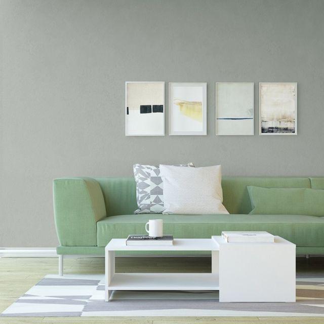 Homemania Table Basse Nairobi Porte-Revues - avec Compartiments - pour Salon, Canapé - Blanc en Bois, 100 x 50 x 30 cm