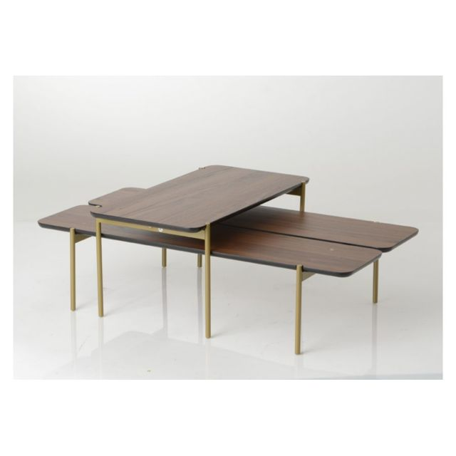 HELLIN Lot de 2 tables basses OSVALD