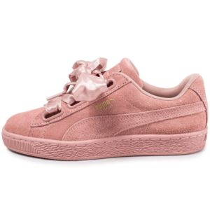 Puma Suede Classic Satin Wn's rose - Chaussures Baskets basses Femme