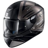 Shark - casque moto intégral polycarbonate Skwal Warhen Kak noir bronze mat Promo S
