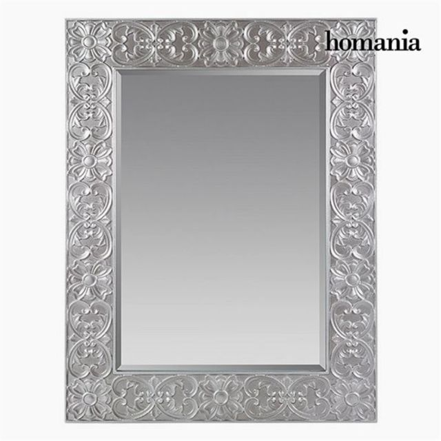 Homania Miroir Carré Argent - Collection Queen Deco by
