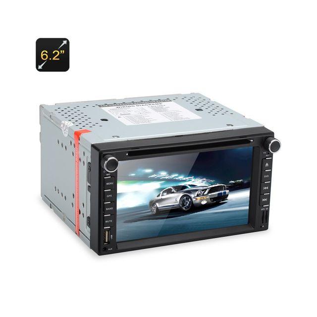 Auto-hightech Autoradio 2 din 6,2 pouce écran tactile dvd gps bluetooth port sd