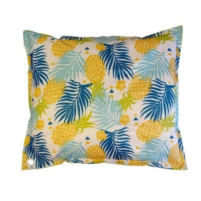 gÉnÉrique - pouf - poire coussin géant imprimé tropic ananas