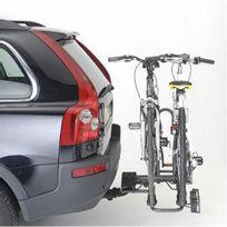 Porte-vélo plateforme 2 vélos A019P2, fixation sur boule d'attelage
